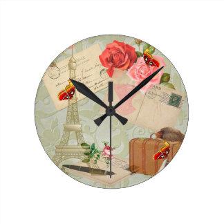 Paris Round Clock