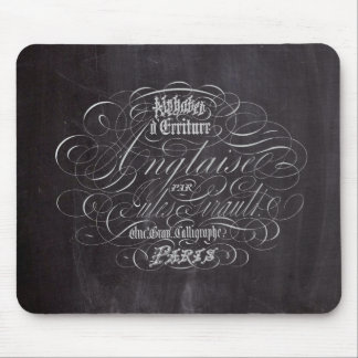 Paris rustic country chalkboard French Scripts Mouse Pad