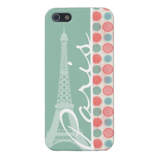 Paris; Salmon, Coral Pink, & Seafoam iPhone 5/5S Cases