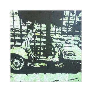 Paris Scooter Gallery Wrap Canvas