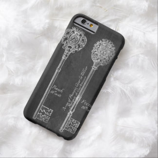 paris scripts chic vintage keys chalkboard barely there iPhone 6 case