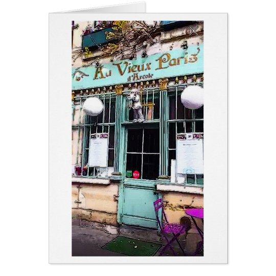 Paris Shop Front Travel Art Print Note Card