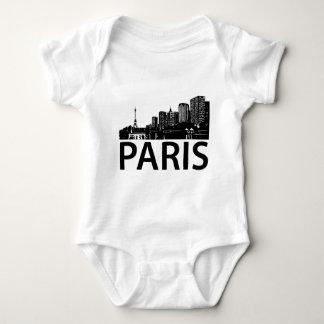 Paris Skyline Baby Bodysuit