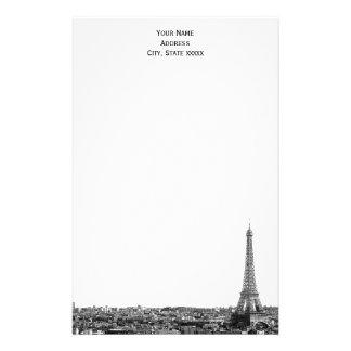 Paris Skyline Etched 01 Stationery