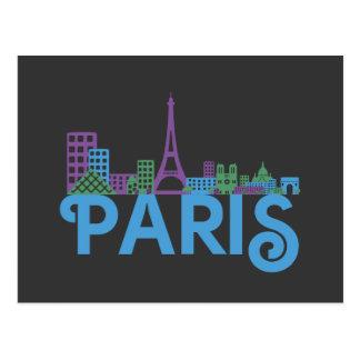 Paris Skyline Post Cards