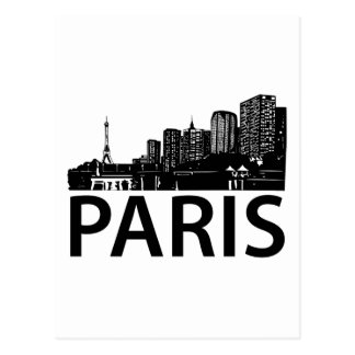 Paris Skyline Postcard
