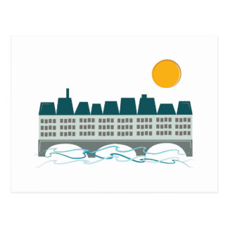 Paris Skyline Postcard