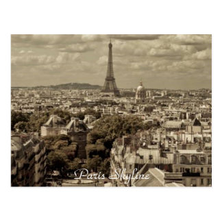 Paris Skyline - Postcard