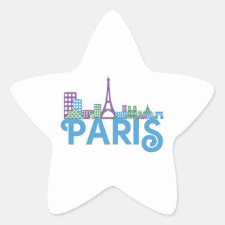 Paris Skyline Star Stickers