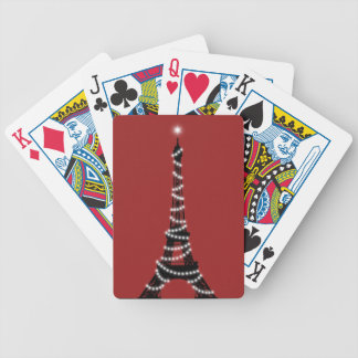 Paris Sparkles Poker Cards red