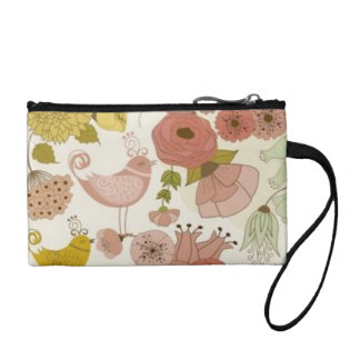 """Paris-Spring* Key-Coin_Purse_Floral+Rose II Coin Wallet"