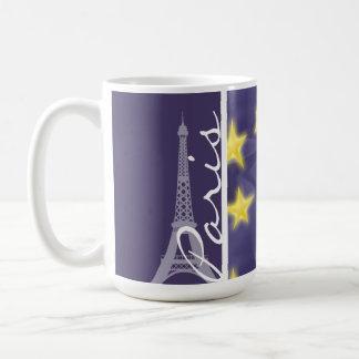 Paris Starry Night; Eiffel Tower Basic White Mug