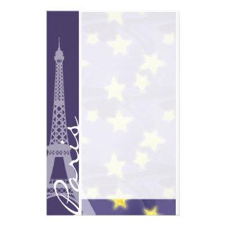 Paris Starry Night; Eiffel Tower Customised Stationery