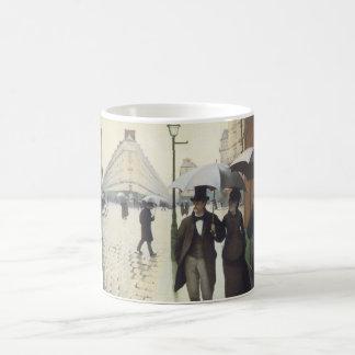 Paris Street, Rainy Day by Caillebotte Basic White Mug
