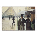 Paris Street, Rainy Day by Caillebotte Greeting Card