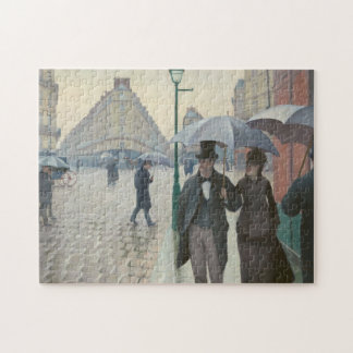 Paris Street; Rainy Day by Caillebotte Jigsaw Puzzle