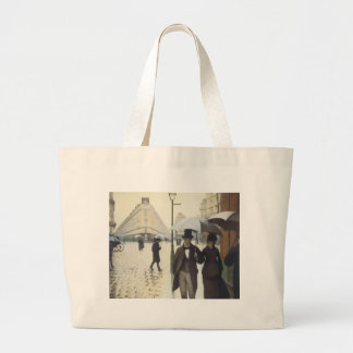 Paris Street, Rainy Day by Caillebotte Jumbo Tote Bag