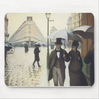Paris Street, Rainy Day by Caillebotte Mouse Pad