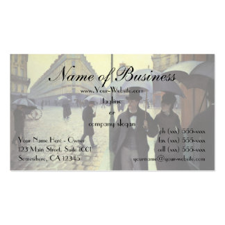 Paris Street, Rainy Day by Gustave Caillebotte Double-Sided Standard Business Cards (Pack Of 100)