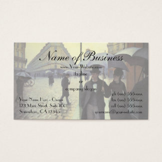 Paris Street, Rainy Day by Gustave Caillebotte Business Card