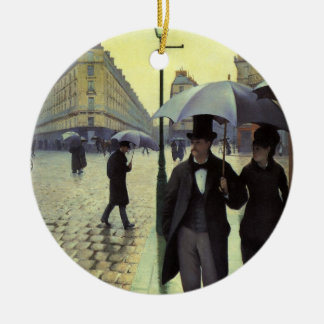 Paris Street Rainy Day by Gustave Caillebotte Christmas Ornament