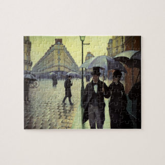 Paris Street Rainy Day by Gustave Caillebotte Jigsaw Puzzle