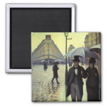 Paris Street, Rainy Day by Gustave Caillebotte Refrigerator Magnets