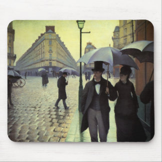 Paris Street Rainy Day by Gustave Caillebotte Mouse Mat