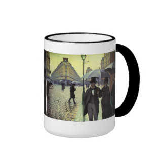 Paris Street, Rainy Day by Gustave Caillebotte Mugs