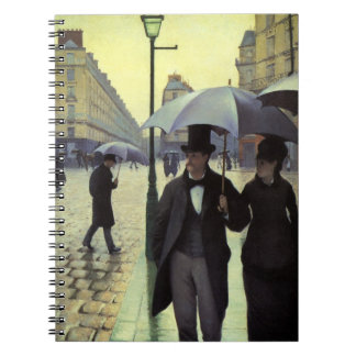 Paris Street Rainy Day by Gustave Caillebotte Note Books