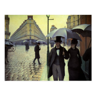Paris Street Rainy Day by Gustave Caillebotte Postcard