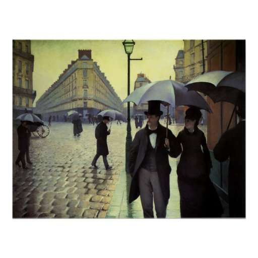 Paris Street, Rainy Day by Gustave Caillebotte Poster