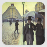 Paris Street, Rainy Day by Gustave Caillebotte Stickers