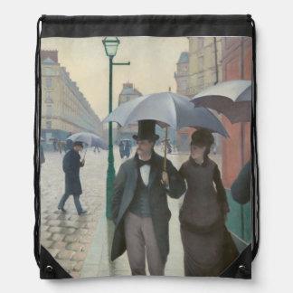 Paris Street Rainy Day Drawstring Bag
