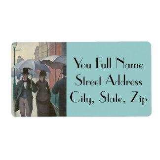 Paris Street Rainy Day Shipping Label