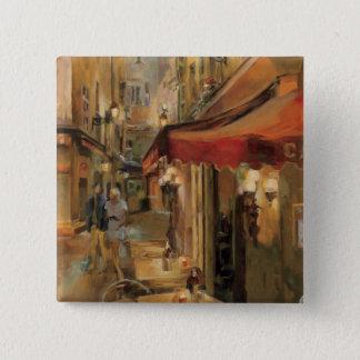 Paris Street Scene 15 Cm Square Badge