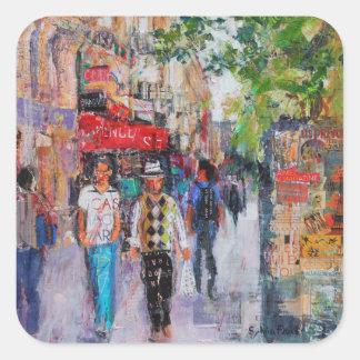 Paris Street Square Sticker