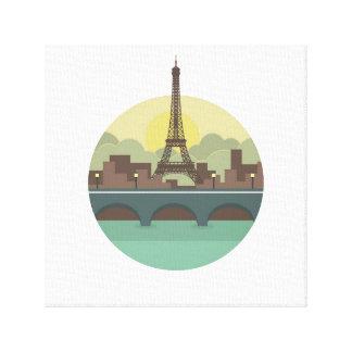 Paris Stretched Canvas Prints