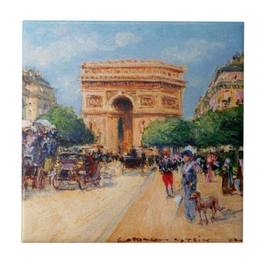 Paris Sunday Small Square Tile