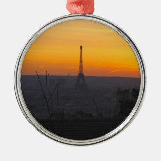 Paris Sunset Christmas Ornament