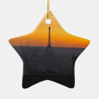 Paris Sunset Christmas Ornament
