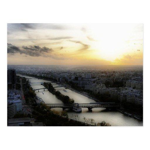 Paris Sunset Post Card