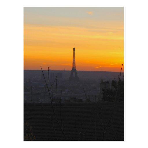Paris Sunset Postcards