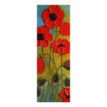 Paris' Tall Red Poppies Fine Art Poster
