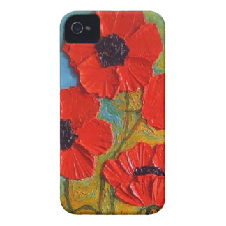 Paris' Tall Red Poppies iPhone 4 Case