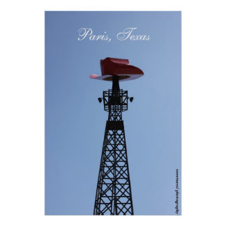 Paris, Texas Eiffel Tower Poster