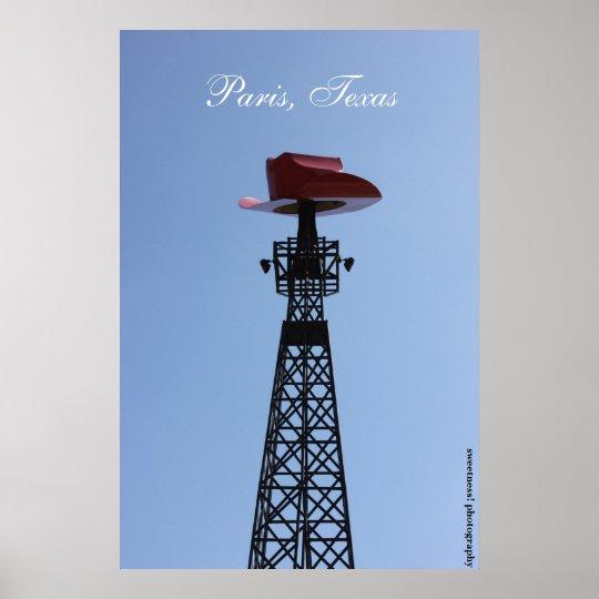 Paris, Texas Eiffel Tower Poster