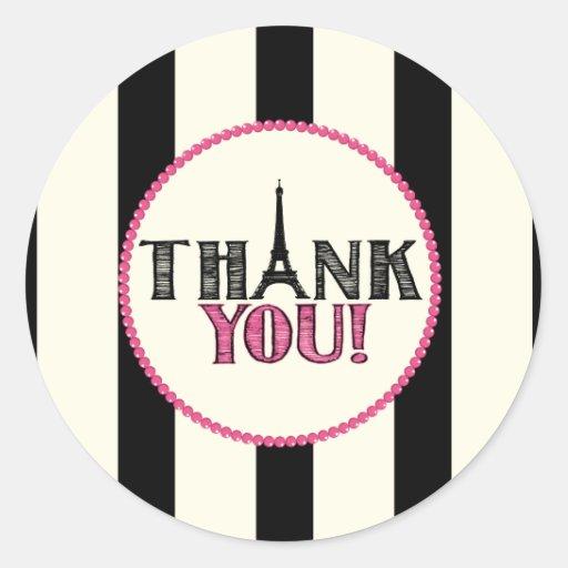 Paris Thank You Sticker