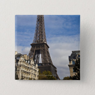 Paris, The Eiffel Tower. 15 Cm Square Badge