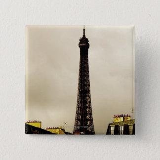 Paris, The Eiffel Tower. 2 15 Cm Square Badge